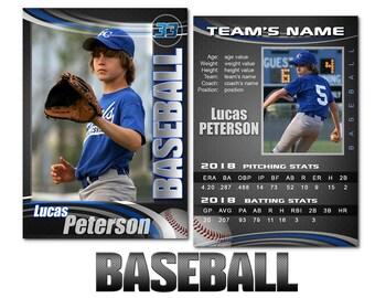 "Baseball ""Graphite"" Cards Templates"