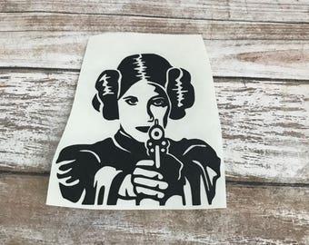 Princess Leia Star Wars Vinyl Decal Car Laptop Wine Glass Sticker