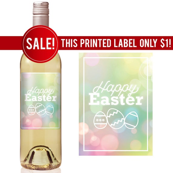 Easter wine label personalized easter labels easter labels like this item negle