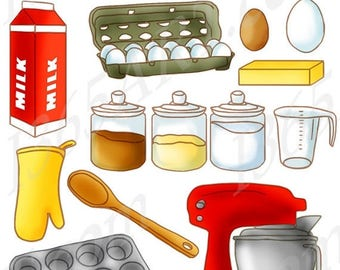 Cooking clipart etsy for Art and cuisine pans