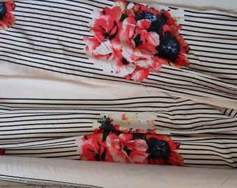 Rayon Floral Stripe