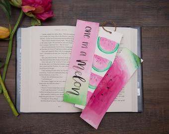watermelon bookmark, watermelon set, bookmark set