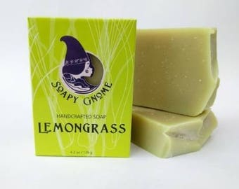 Lemongrass Buttermilk Soap with Shea Butter, Olive Oil and Essential Oils.
