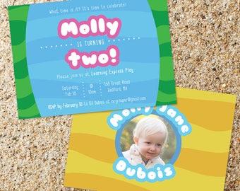 Bubble Guppies Themed birthday invitation