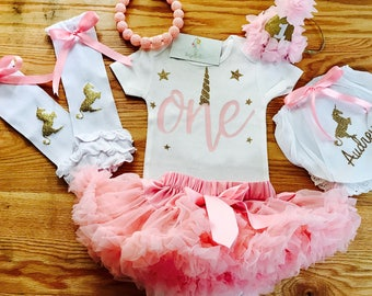 Unicorn First Birthday First Birthday Outfit Girl   One year old first birthday outfit  1st Birthday Tutu Outfit Unicorn
