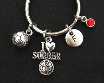 Personalized Soccer Keychain Personalized Soccer Gift