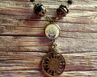 Victorian Steampunk Nautical Necklace & Dangle Earrings