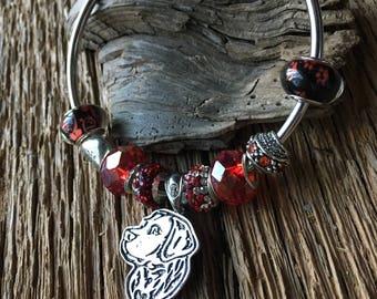 Labrador retriever bracelet: dog lover bracelet, labrador bracelet, black lab bracelet, chocolate lab, yellow lab, labrador dog jewelry, dog
