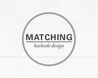 Design on the Back for Invitation Card - Printable DIY Backside Design