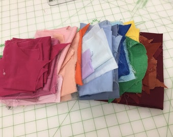 Lot Of Vintage Solid Fabric