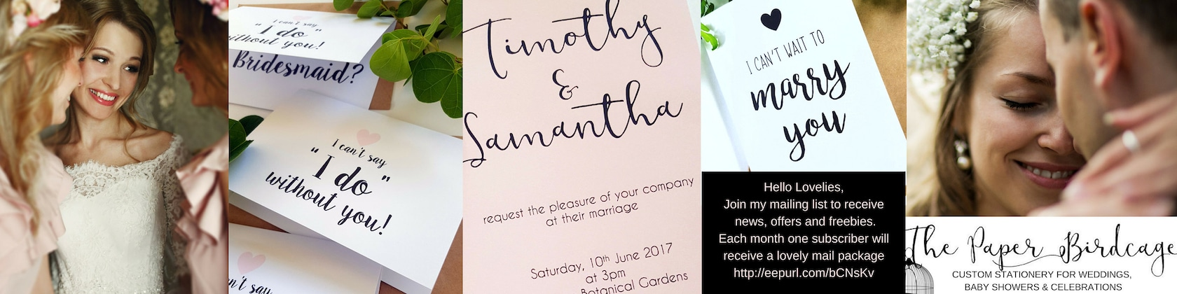 Bridesmaid Cards Wedding Invitations Favour By ThePaperBirdcage