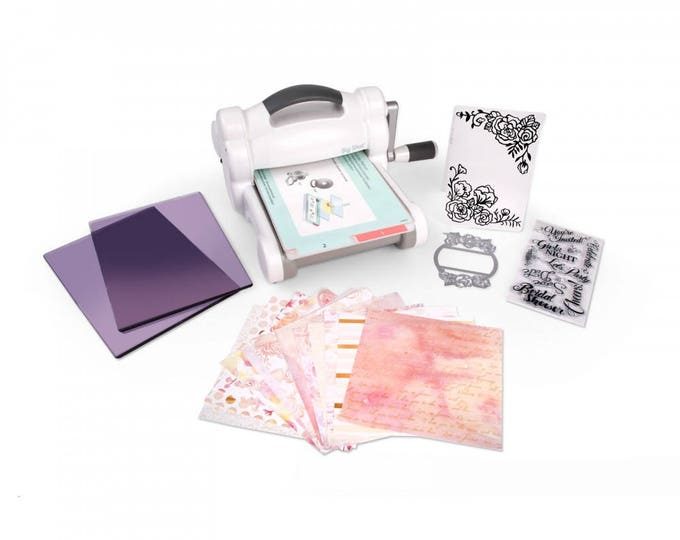 New! Sizzix Big Shot Starter Kit (White & Gray) - inspired by David Tutera 661760