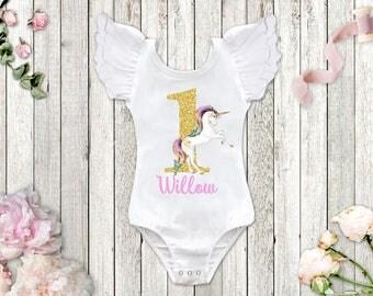 Unicorn Birthday Leotard, Unicorn Birthday Outfit, ANY AGE, Unicorn 1st Birthday, 1st Birthday Leotard, First Birthday Shirt, Squishy Cheeks