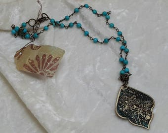 Metal Etched Pendant