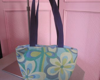 "1990s Fabric Tote, Custom Made by ""Viv Pickle"""