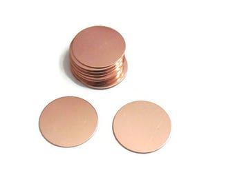 7/8 - Copper Blanks - Premium Round Metal Blanks - Stamping Blanks - Metal Blanks - Copper Disc - tumbled Blanks - Pendant Blanks