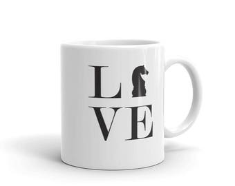 Mug - Live Love Chess Black Knight Mug