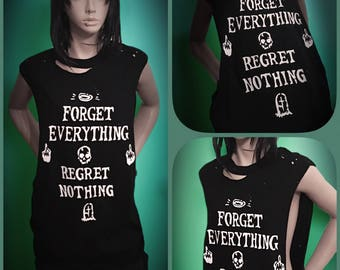 Regret Nothing Sleeveless Shirt