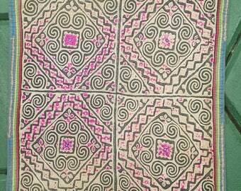 Hmong reverse applique on hemp fabric (H272)