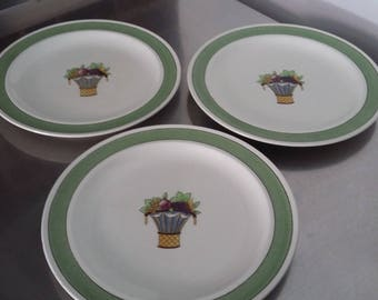 3 Three Wedgwood Etruria Directoire Dinner Plates