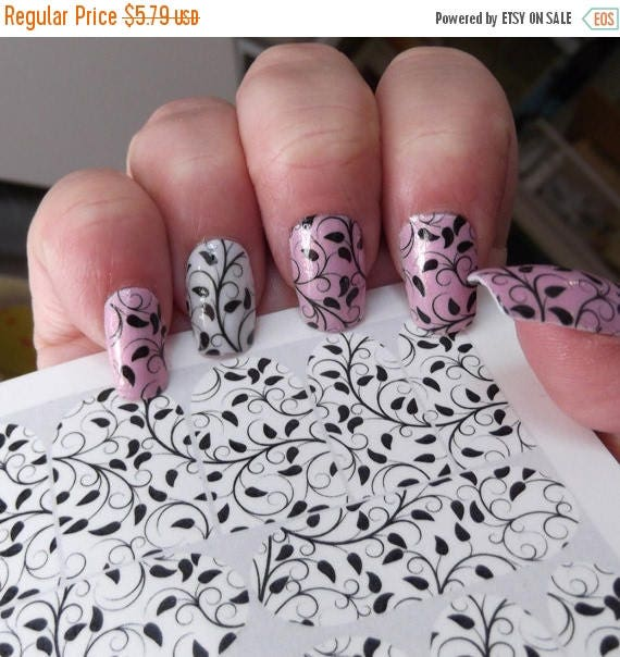 On sale ivy nail art decals vns black vines full nail wrap on sale ivy nail art decals vns black vines full nail wrap decoration long and short nails waterslide decal water slide decal stickers from northofsalem prinsesfo Choice Image