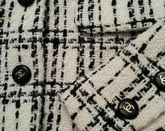 Vintage Chanel Fall Tweed Jacket S XS