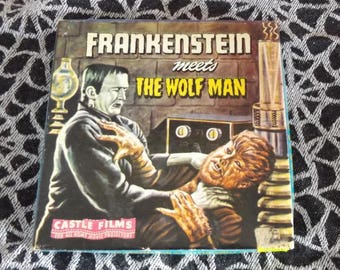 Supern8mm Movie Frankenstein Meets The Wolf Man Bela Lugosi Lon Chaney Jr. Lionel Atwell Universal Monsters Horror Movie