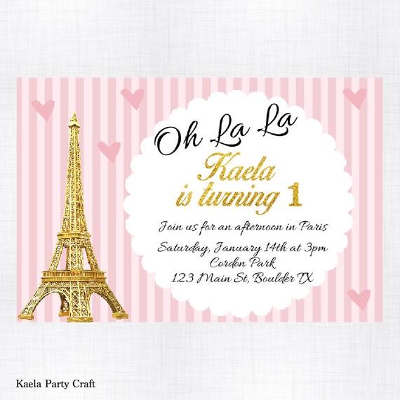 Paris birthday invitation paris themed birthday paris birthday il570xn filmwisefo