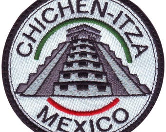 Chichen Itza Mexico Embroidered Sew On Patch