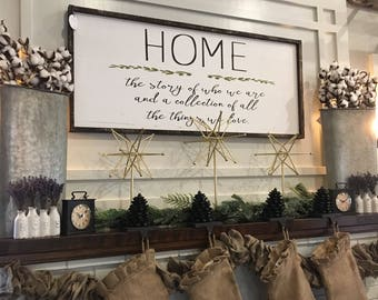 Exceptionnel Home Sign / Large Wood Sign / Story Of Us Sign / Wood Sign / Farmhouse