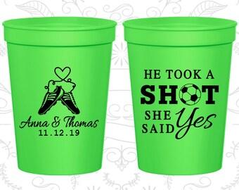 Neon Green Stadium Cups, Neon Green Cups, Neon Green Party Cups, Neon Green Wedding Cups (322)