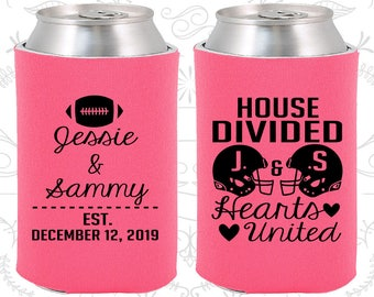 Hot Pink Wedding, Hot Pink Can Coolers, Hot Pink Wedding Favors, Hot Pink Wedding Gift, Hot Pink Party Gift (395)