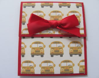 Bus Driver Christmas Gift Card Holder, Bus Drivers, Valentines Day Bus Driver Gift, Bus Driver Gift, Holiday Gift Card, Gift for Bus Drivers