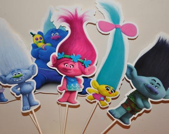 Trolls Large Centerpiece and Cake Topper
