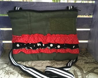 Simple Cross-body Bag (Green& Black)