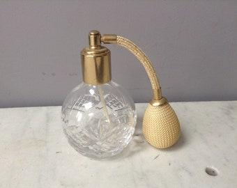 Vintage Cut Glass Atomiser Scent Bottle