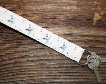 Key Fob - Country Chicken Quilted Wristlet