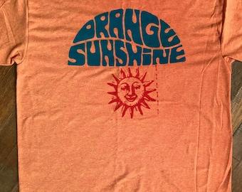 Orange Sunshine Screen Print Shirt