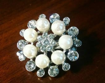Pearl and Crystal Hair Jewelry
