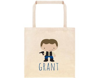 Hans Solo Star Wars Personalized School Tote Bag // Custom Canvas StarWars Book Bag //  Kindergarten /Preschool Tote