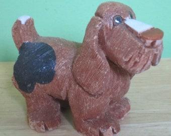 Vintage Artesania Rinconada Basset Hound Dog Figurine - Free Shipping