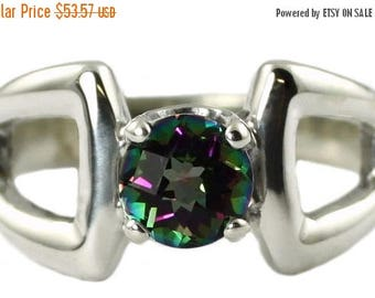 On Sale, 20% Off, Mystic Fire Topaz, 925 Sterling Silver Ring, SR307