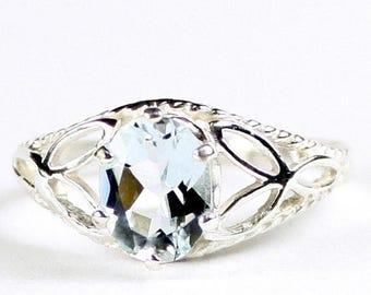 On Sale, 30% Off, Aquamarine, 925 Sterling Silver Ring, SR137