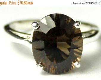 On Sale, 30% Off, Smoky Quartz , 925 Sterling Silver Ladies Ring, SR055
