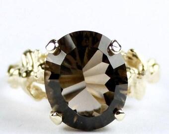 On Sale, 30% Off, Smoky Quartz, 14Ky Gold Angel Ring, R154
