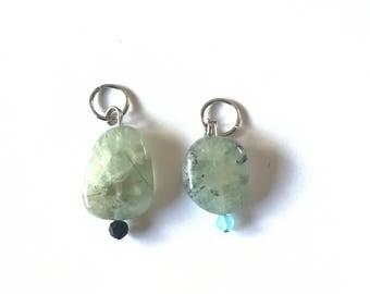 Gemstone Collar Charms, Calming Green Rutilated Quartz, Dog Collars, Cat Collars, Pet Healing Charms
