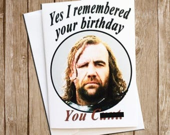 The Hound Birthday Card