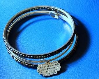 Love Gives You A Fairy Tale...  Charm Bracelet