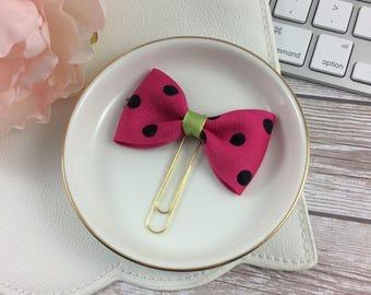 Watermelon Ribbon Planner Clip // Planner Accessory // Planner Accessories // Bookmark