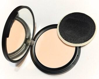 ORGANIC Pressed Setting Powder - Translucent Rice Powder Gluten Free Vegan - Botanical Plant Makeup